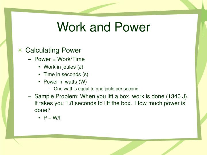 Work and Power