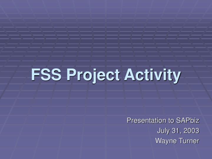 fss project activity n.