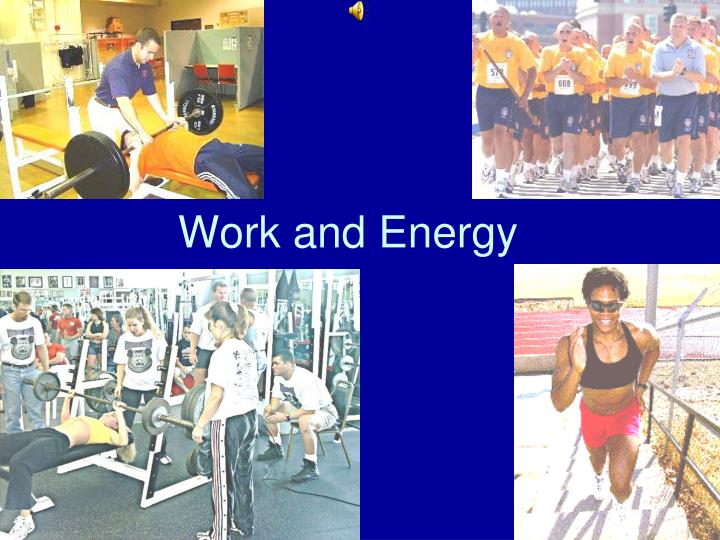 work and energy n.