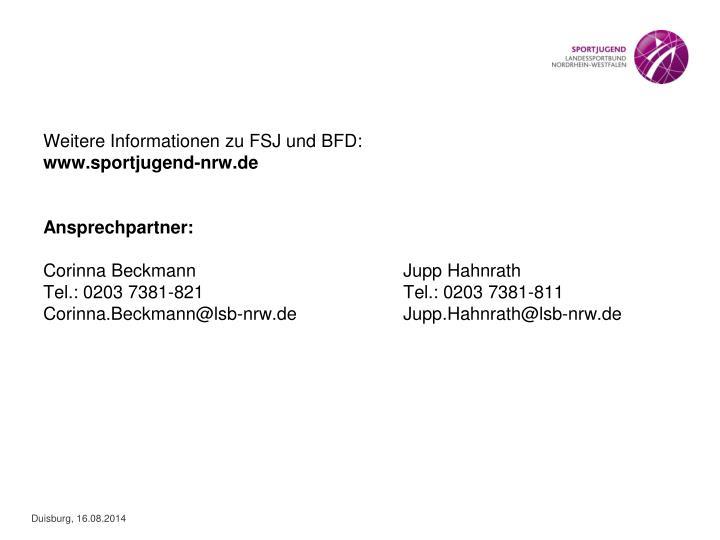 Weitere Informationen zu FSJ und BFD: