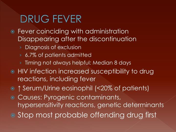 DRUG FEVER