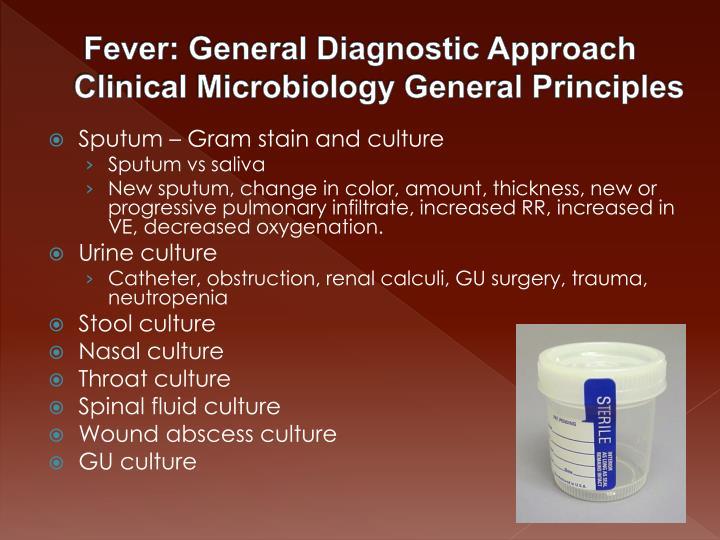 Fever: General Diagnostic Approach