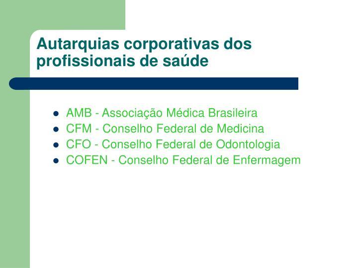 Autarquias corporativas dos profissionais de saúde