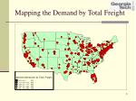 mapping the demand by total freight