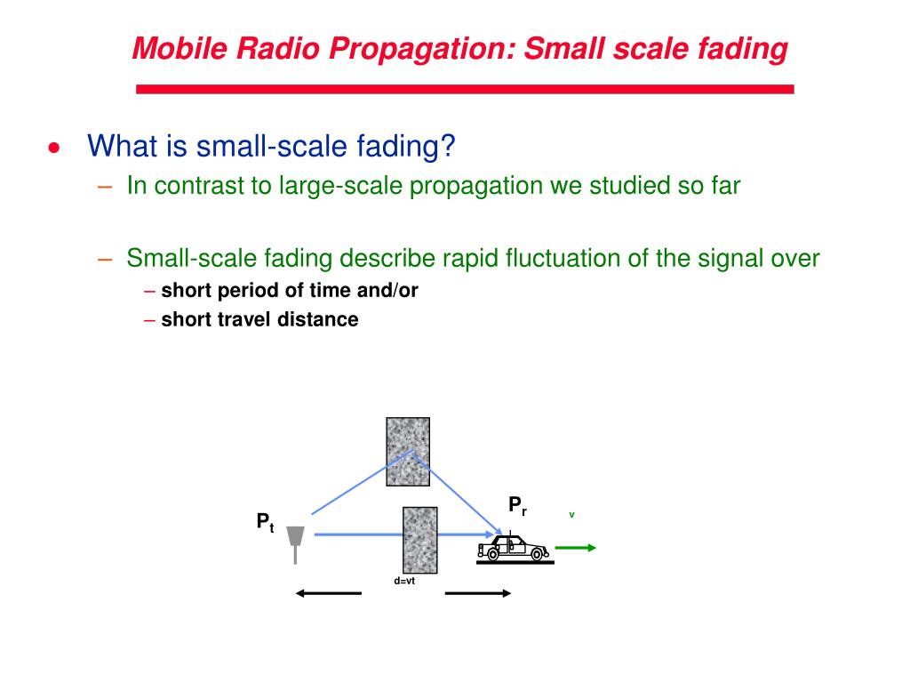 PPT - Lecture 3 Wireless Channel Propagation Model