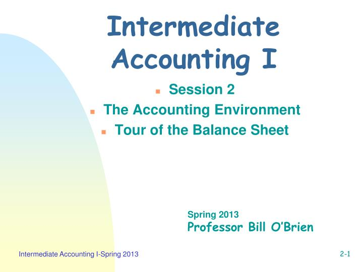 intermediate accounting i n.