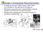 changes in extracellular neurotransmitters