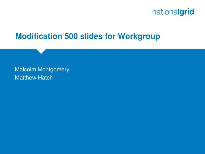 modification 500 slides for workgroup n.