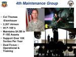 4th maintenance group