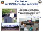 key partner our goldsboro local community