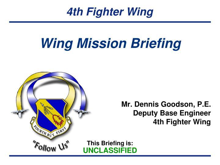 wing mission briefing n.