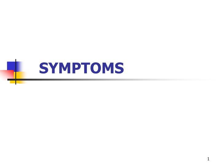 symptoms n.