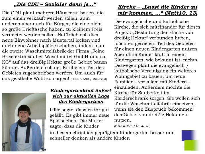 """""""Die CDU – Sozialer denn je…"""""""
