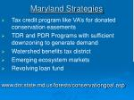 maryland strategies