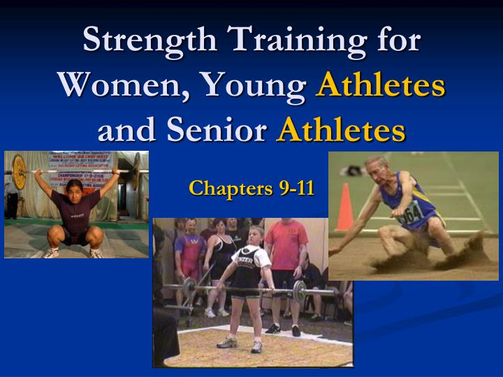 strength training for women young athletes and senior athletes n.