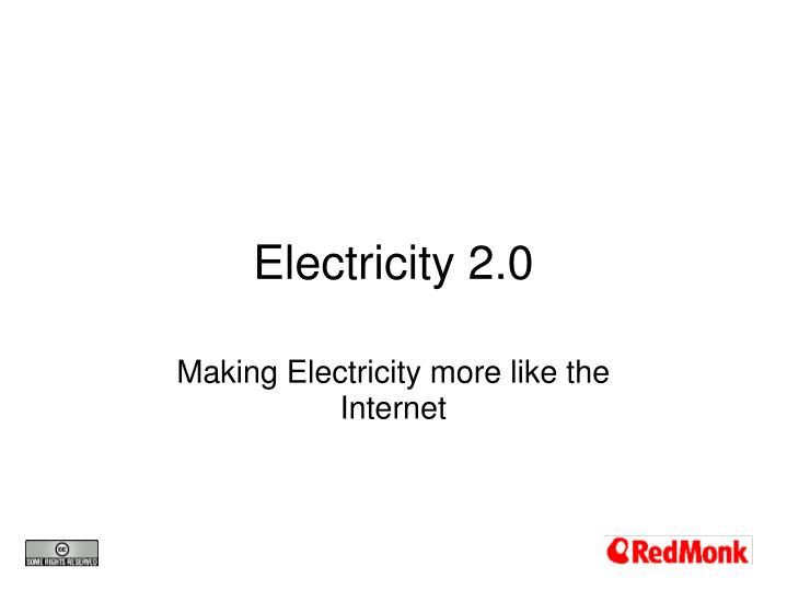 electricity 2 0 n.