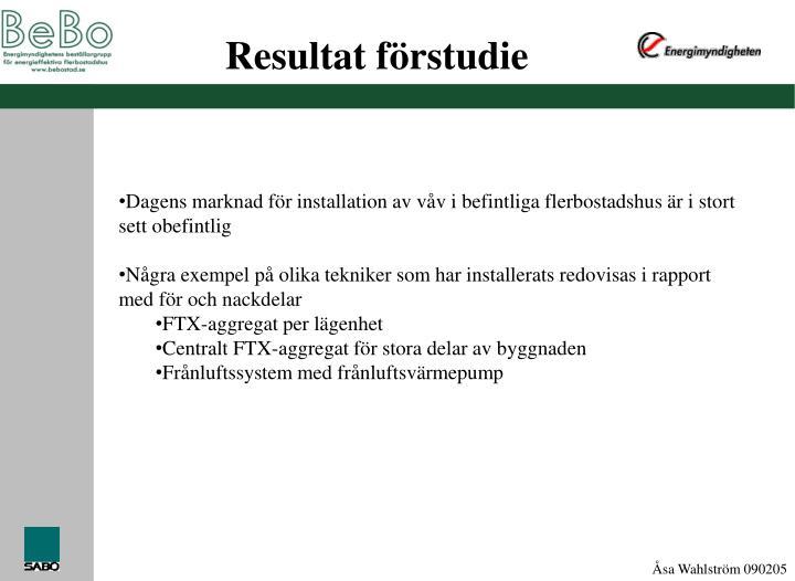 Resultat f rstudie