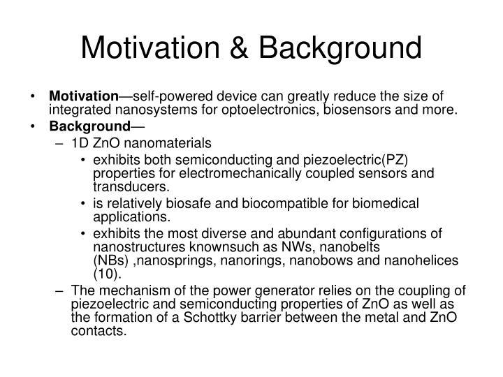Motivation background