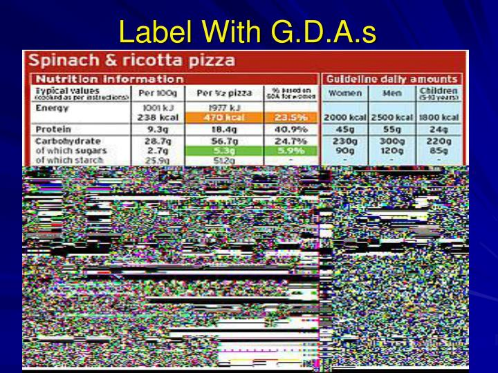 Label With G.D.A.s