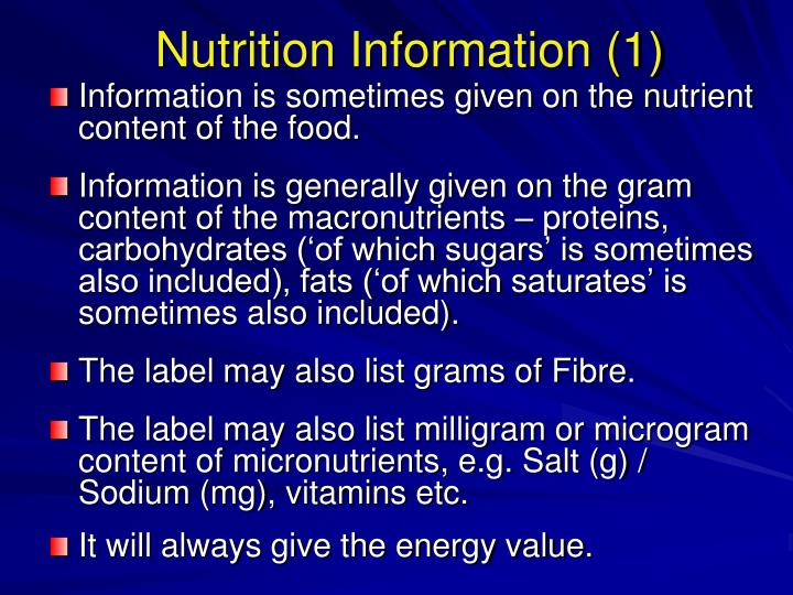 Nutrition Information (1)