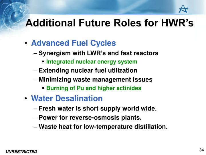 Additional Future Roles for HWR's