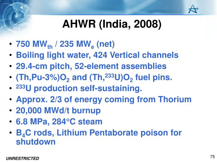 AHWR (India, 2008)