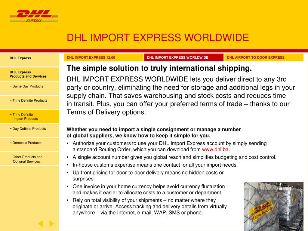 PPT - ALL THE EXPRESS & LOGISTICS SERVICES YOU NEED  IN ONE