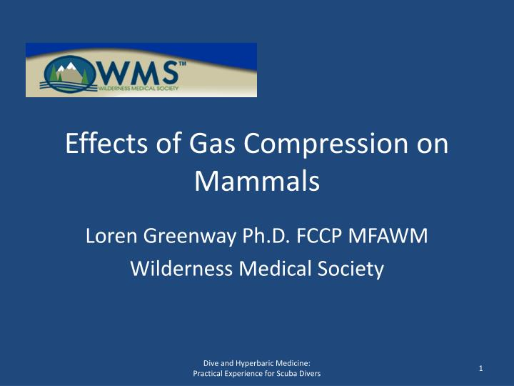 effects of gas compression on mammals n.