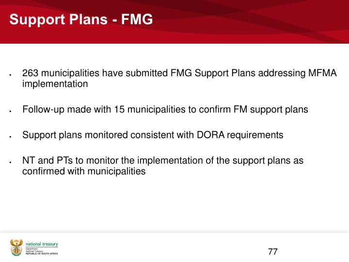 Support Plans - FMG
