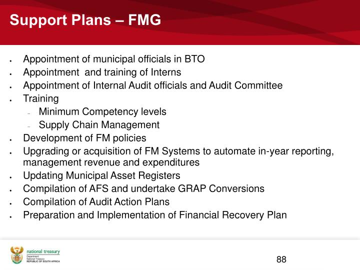 Support Plans – FMG