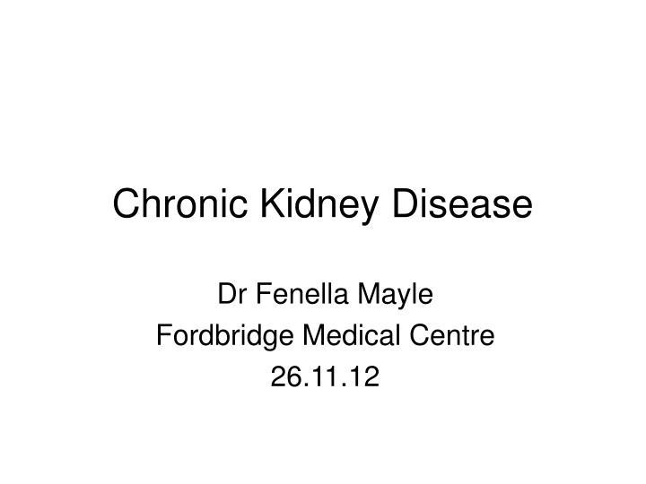chronic kidney disease n.