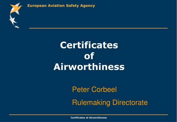 certificates of airworthiness n.