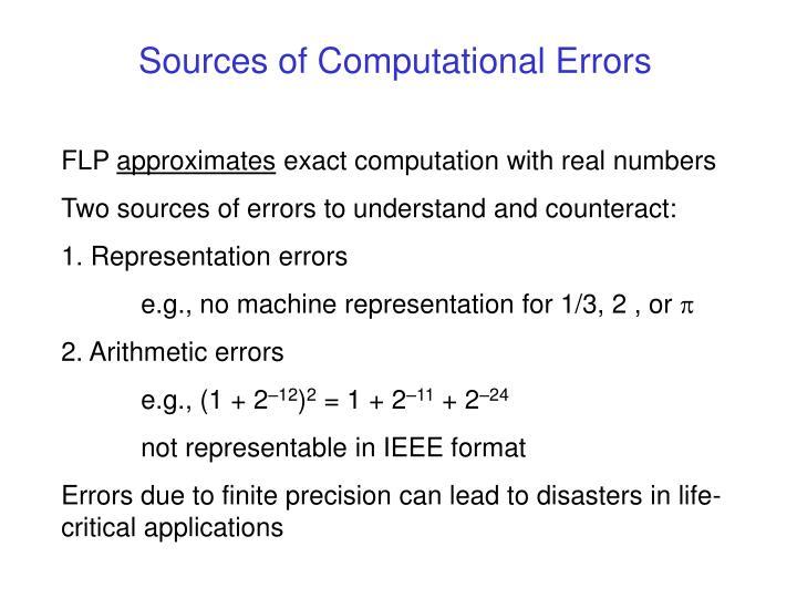 sources of computational errors n.