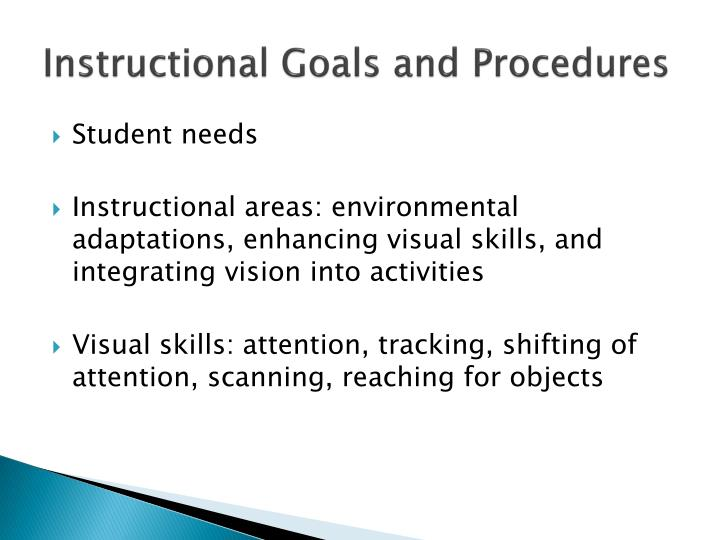 Instructional Goals and Procedures