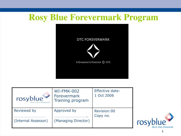 rosy blue forevermark program n.