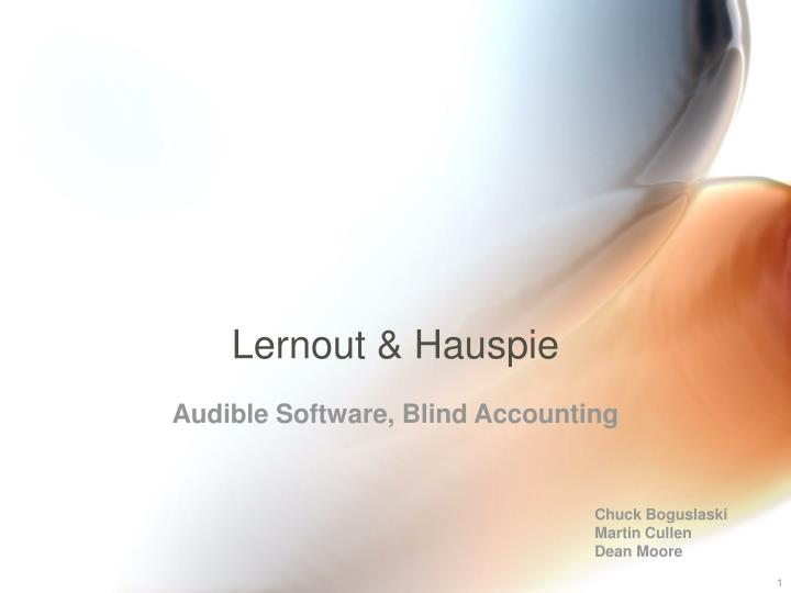 lernout hauspie speech products case