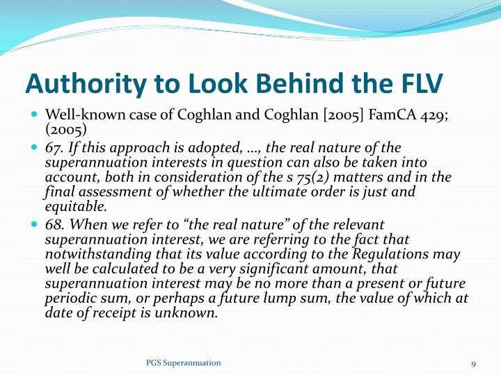 Authority to Look Behind the FLV