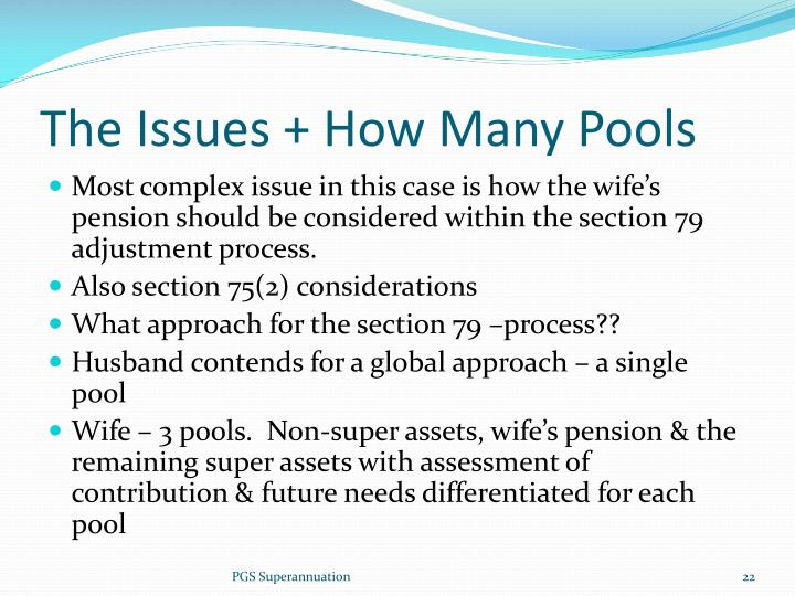 The Issues + How Many Pools