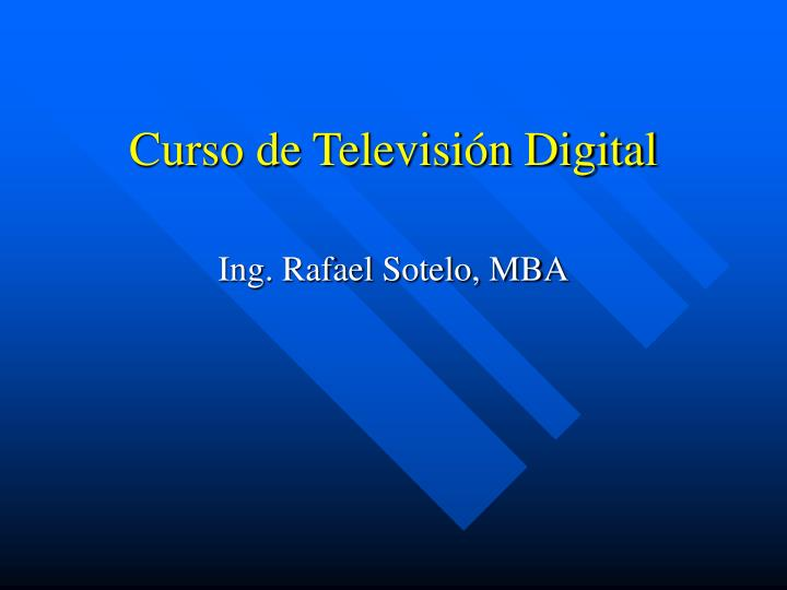 curso de televisi n digital n.