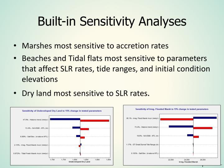 Built-in Sensitivity Analyses