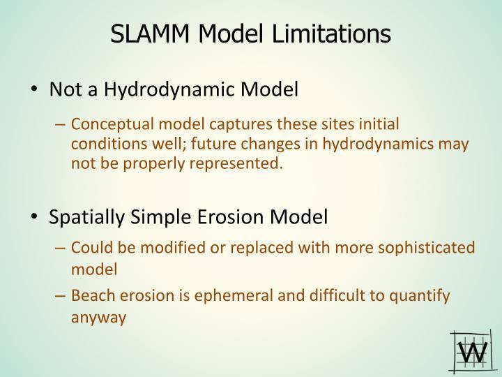 SLAMM Model Limitations