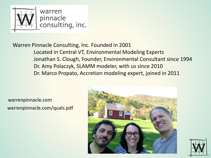 Warren Pinnacle Consulting, Inc. Founded in 2001
