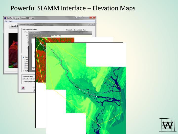 Powerful SLAMM Interface – Elevation Maps