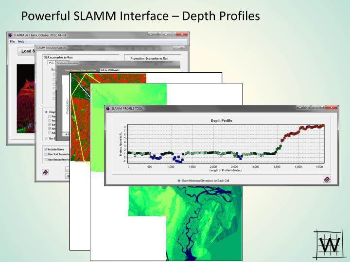 Powerful SLAMM Interface – Depth Profiles