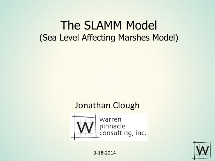 The slamm model sea level affecting marshes model