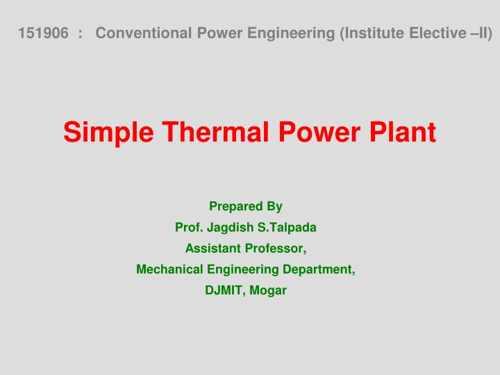 Ppt Of Thermal Power Plant Best Plants 2017