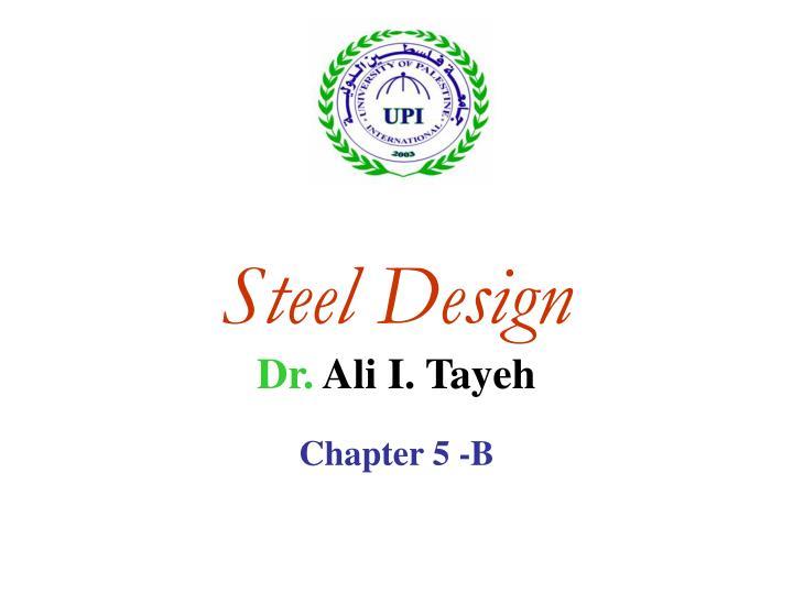 Steel design dr ali i tayeh