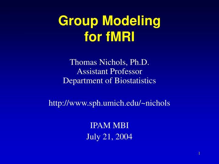 group modeling for fmri n.