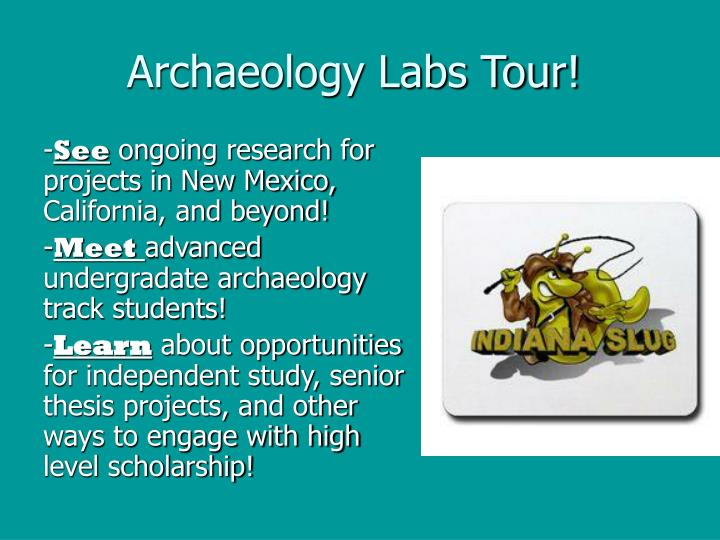 archaeology labs tour n.