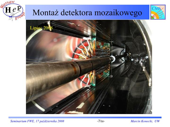 Montaż detektora mozaikowego